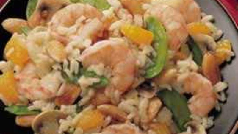 Mandarin-Almond Shrimp