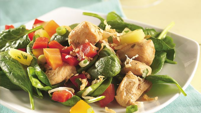 Tropical Salsa-Topped Chicken Salad