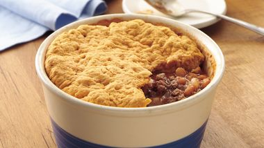 Beefy Bean Pot Pie