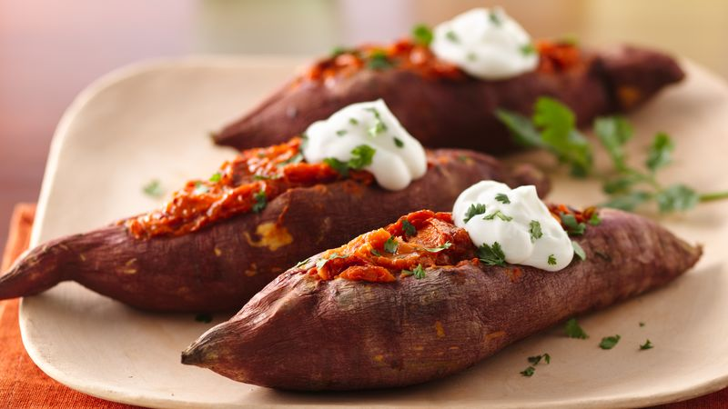 Chipotle Twice Baked Sweet Potatoes