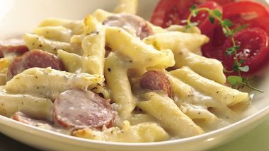Cheesy Sausage and Penne Casserole