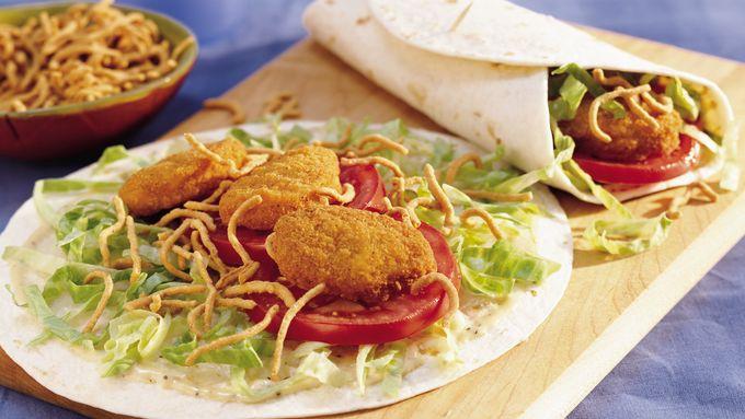 Crunchy Chicken Nugget Tacos