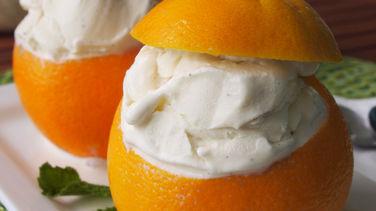 Ice Cream-Filled Oranges