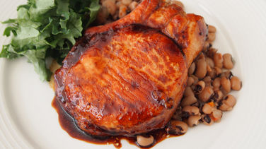 Black Eyed Peas with Pork Chops