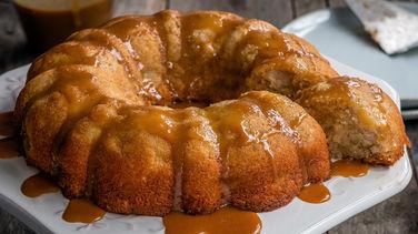 Pastel de Manzana con Glaseado de Cajeta