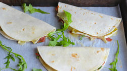 Pear, Brie and Prosciutto Quesadillas