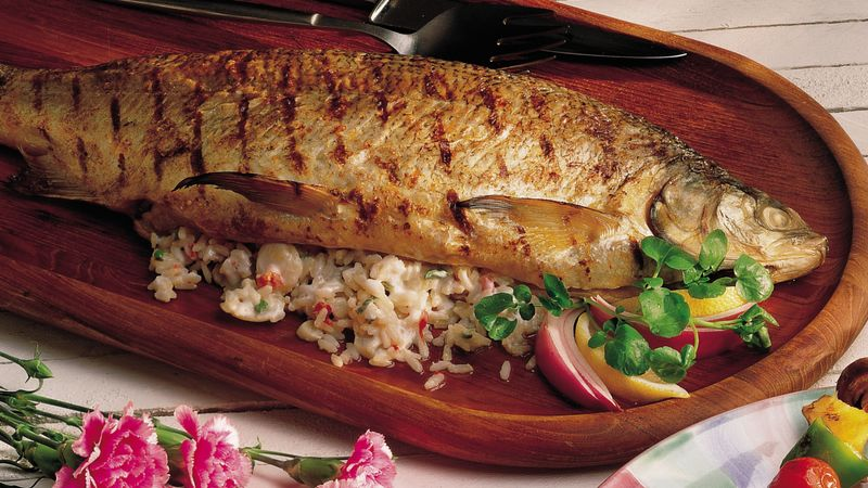 Grilled Whitefish with Stuffing