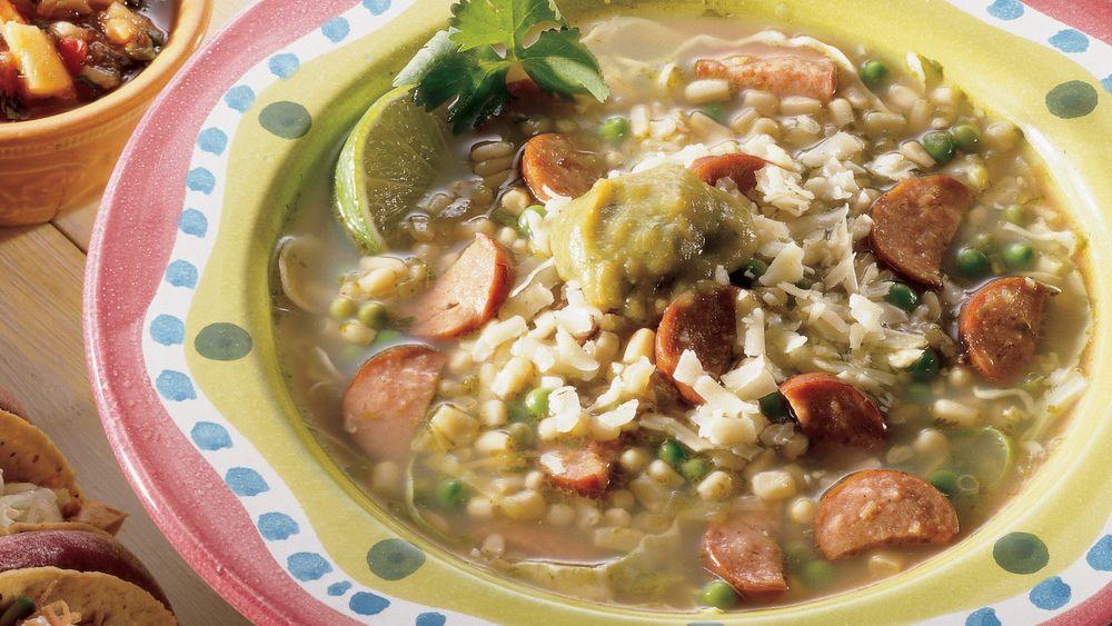 Southwestern Green Chile Soup