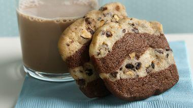 Crisp Chocolate-Espresso Ribbon Cookies