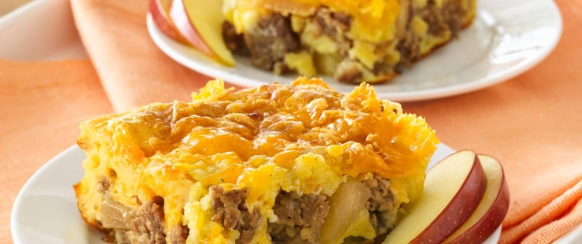 Cheesy Sausage and Egg Bake recipe from Betty Crocker