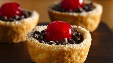 Cherry-Topped Chocolate Tassies