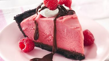 Frozen Chocolate-Raspberry Pie
