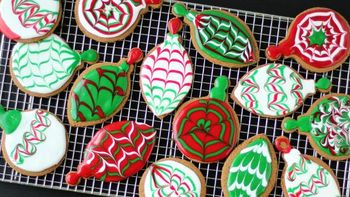 Christmas Ornament Gingerbread Cookies