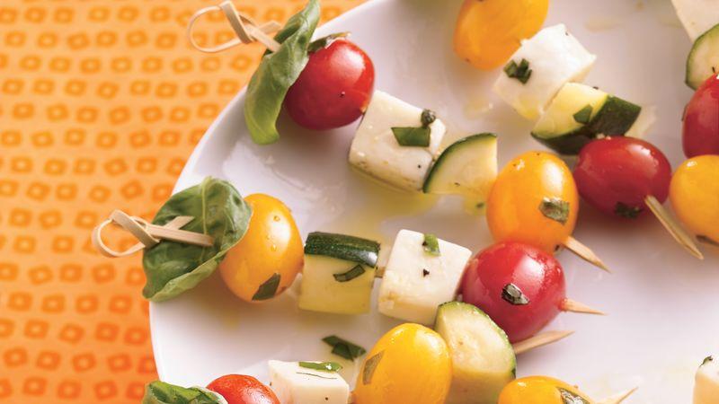 Fresh Tomato-Basil Caprese Kabobs