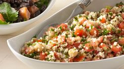 Bulgur, Lentil and Chickpea Salad
