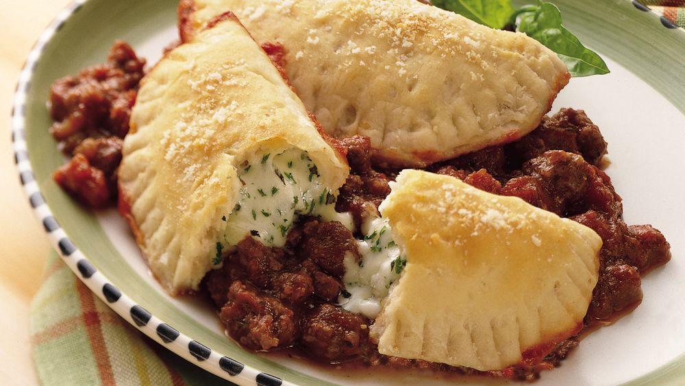 Cheesy Biscuit Lasagna recipe from Pillsbury.com