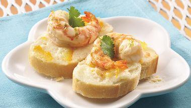 Citrus-Marinated Shrimp Canapés