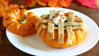 Mini Pumpkin Lattice Pies
