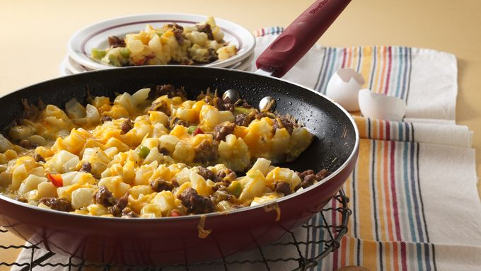 Cheesy Potato and Sausage Frittata