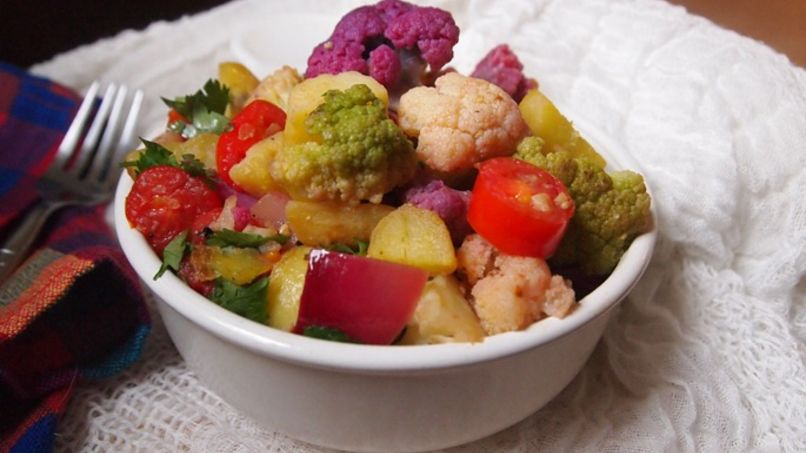 Sautéed Rainbow Cauliflower