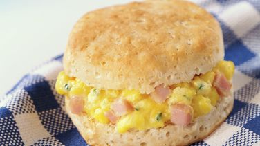 Eggs & Ham Biscuits