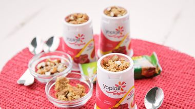 Cherry-Almond Crisp Yogurt Cup