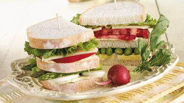 Egg and Asparagus Club Sandwiches