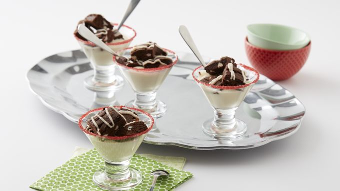 Spiked Peppermint Brownie Parfait
