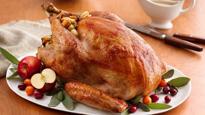 Glazed Roast Turkey with Cranberry Stuffing recipe - from ...