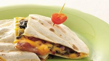 Chile, Cheese and Bacon Quesadillas