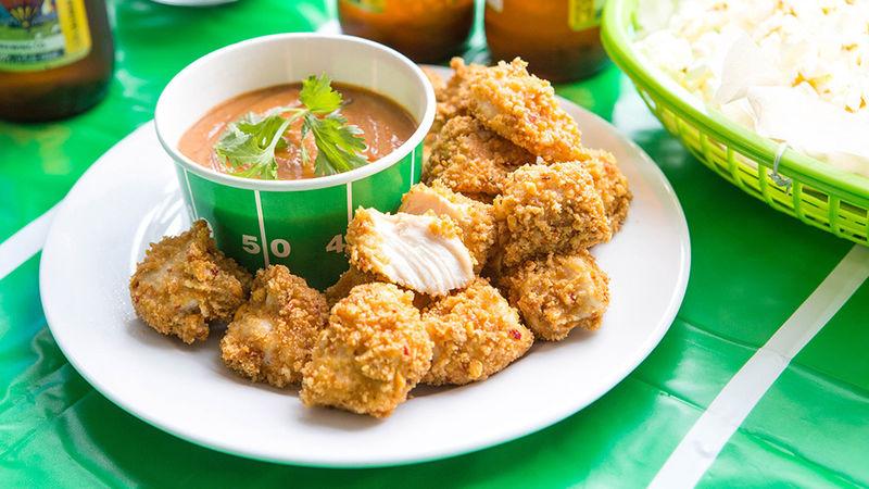Easy Thai Peanut Chicken Bites