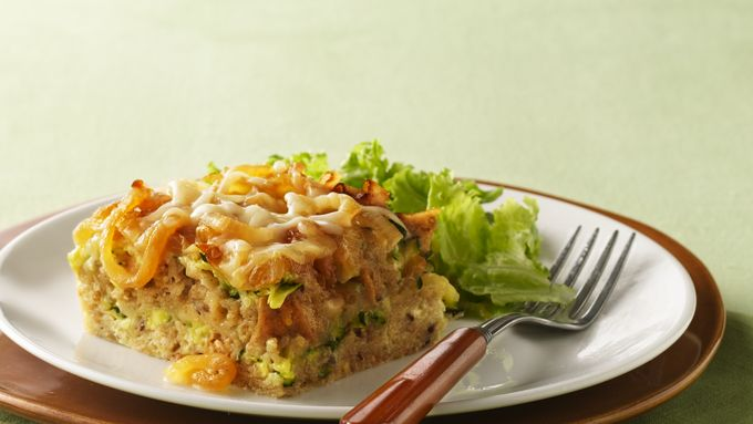 Caramelized-Onion Bread Pudding
