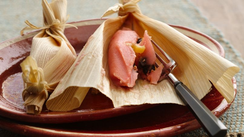 Sweet Pink Mexican Tamales