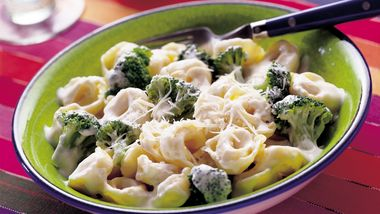 Broccoli and Tortellini Alfredo