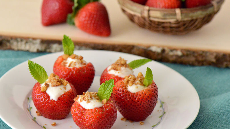 Yoplait® Greek Stuffed Strawberries