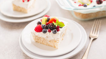 Skinny Tres Leches Poke Cake
