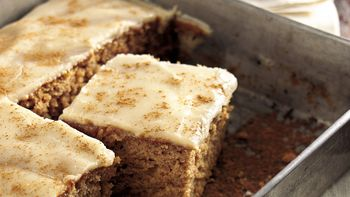 Butter Rum-Glazed Applesauce Cake
