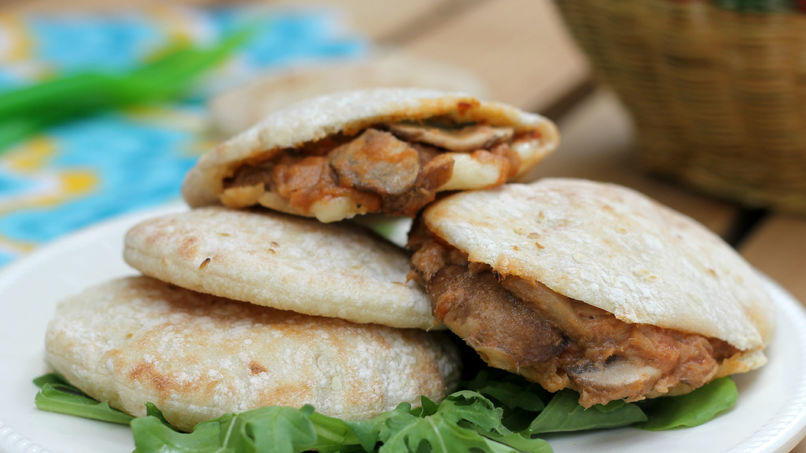 Tuna and Mushroom Pita Sandwich