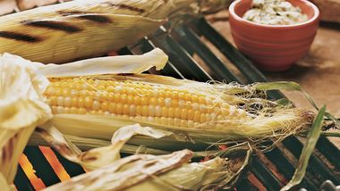 Grilled Corn with Garlic-Cilantro Butter