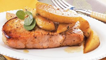 Pork Chops with Apples and Sage