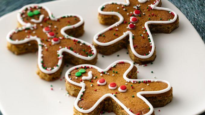 Gingerbread Boy Pancakes