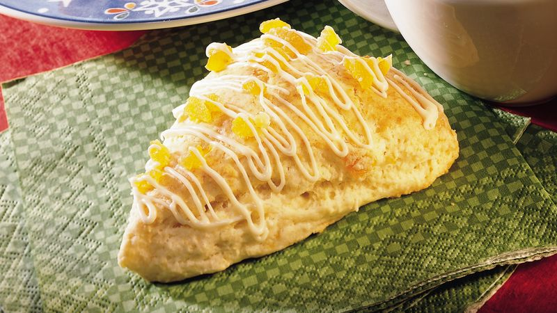 Apricot Scones with White Chocolate Drizzle