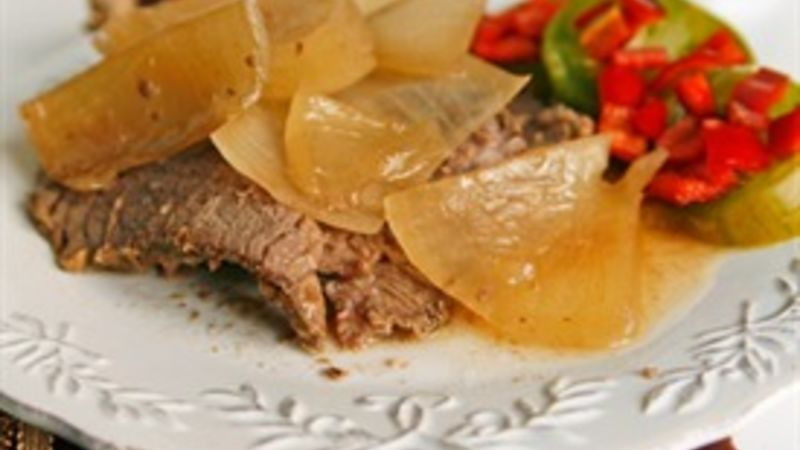 Slow-Cooker French Onion Pot Roast recipe - from Tablespoon!