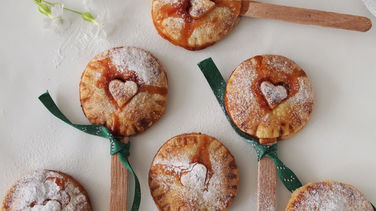 Mini Rhubarb and Strawberry Pies