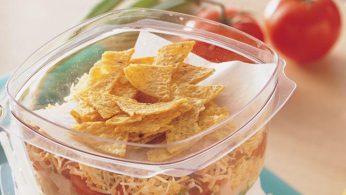 Turkey Taco Layered Salads