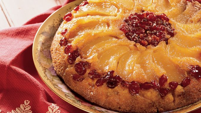 Apple-Cranberry Upside-Down Cake