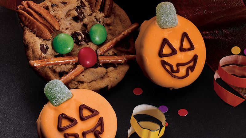 Frosted Jack-o-Lantern Cookies