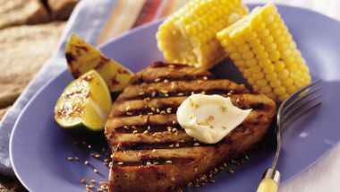 Asian Grilled Tuna with Wasabi Aioli