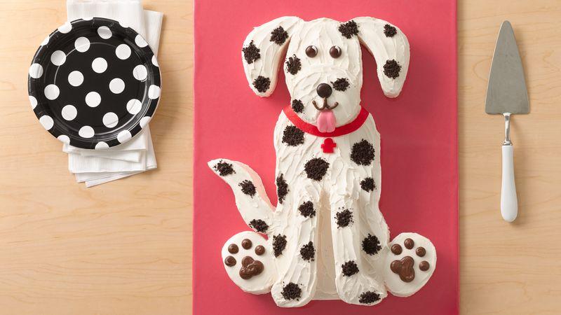 Dalmatian Dog Cake
