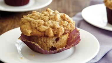 Browned Butter-Plum Muffins